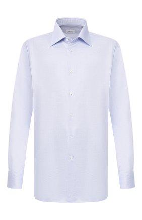 Мужская хлопковая сорочка BRIONI голубого цвета, арт. RCLU1S/P904E | Фото 1