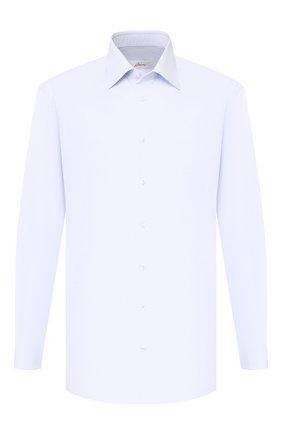 Мужская хлопковая сорочка BRIONI голубого цвета, арт. RCLU3I/PZ005   Фото 1