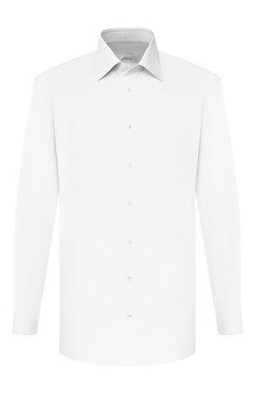 Мужская хлопковая сорочка BRIONI белого цвета, арт. RCLU3I/PZ005 | Фото 1