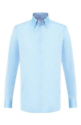 Мужская хлопковая сорочка ZILLI голубого цвета, арт. MFT-MERCU-01404/RZ01 | Фото 1