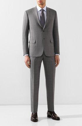 Мужской шерстяной костюм BRIONI серого цвета, арт. RA0J1M/P9A1W/BRUNIC0   Фото 1