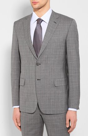 Мужской шерстяной костюм BRIONI серого цвета, арт. RA0J1M/P9A1W/BRUNIC0   Фото 2