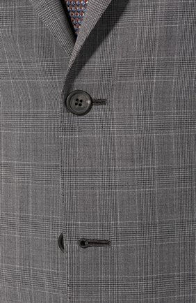 Мужской шерстяной костюм BRIONI серого цвета, арт. RA0J1M/P9A1W/BRUNIC0 | Фото 6