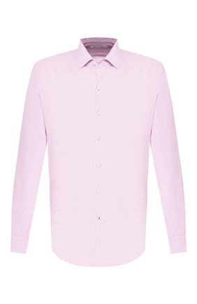 Мужская льняная рубашка LORO PIANA розового цвета, арт. FAF2545 | Фото 1