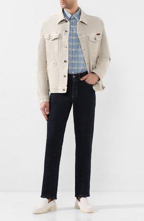 Мужская хлопковая рубашка POLO RALPH LAUREN зеленого цвета, арт. 710789014/4503 | Фото 2