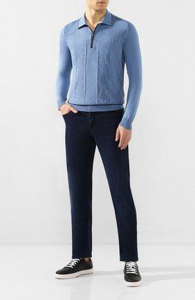 Мужские джинсы ZILLI темно-синего цвета, арт. MCT-00033-EUDC2/R001/AMIS | Фото 2