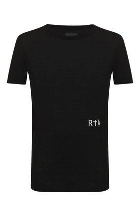 Мужская хлопковая футболка RTA черного цвета, арт. MH9347-7121BLK | Фото 1