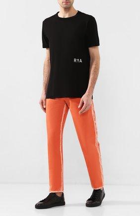 Мужская хлопковая футболка RTA черного цвета, арт. MH9347-7121BLK | Фото 2