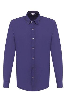 Мужская хлопковая рубашка JAMES PERSE синего цвета, арт. MLC3408 | Фото 1