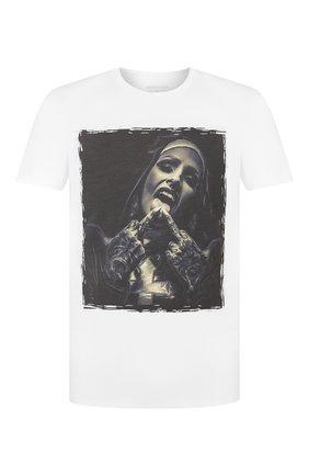 Мужская хлопковая футболка BISIBIGLIO белого цвета, арт. SU0R GANG/HEAVY   Фото 1