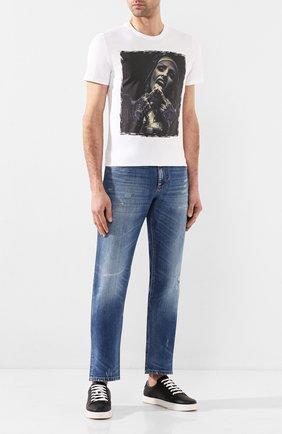 Мужская хлопковая футболка BISIBIGLIO белого цвета, арт. SU0R GANG/HEAVY   Фото 2