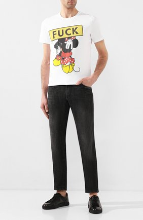 Мужская хлопковая футболка BISIBIGLIO белого цвета, арт. T0P0 FUCK BL0W/HEAVY   Фото 2