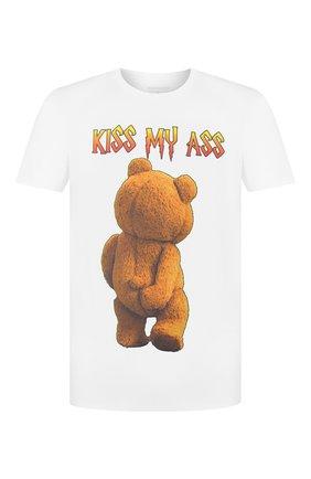 Мужская хлопковая футболка BISIBIGLIO белого цвета, арт. TED MY ASS/HEAVY   Фото 1