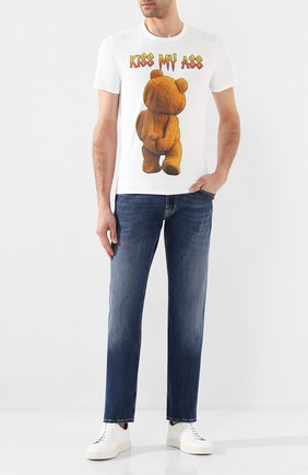 Мужская хлопковая футболка BISIBIGLIO белого цвета, арт. TED MY ASS/HEAVY   Фото 2