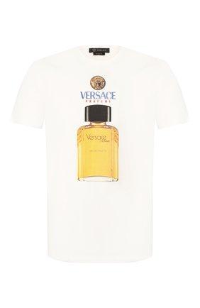Мужская хлопковая футболка VERSACE белого цвета, арт. A85575/A228806 | Фото 1