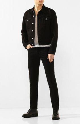 Мужские джинсы DRIES VAN NOTEN черного цвета, арт. 201-22412-9395 | Фото 2