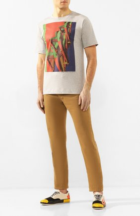 Мужская хлопковая футболка DRIES VAN NOTEN серого цвета, арт. 201-21104-9612   Фото 2