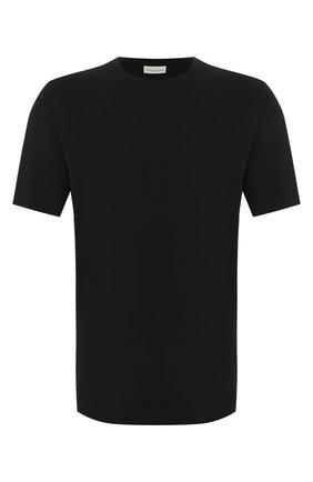 Мужская хлопковая футболка DRIES VAN NOTEN черного цвета, арт. 201-21103-9600 | Фото 1