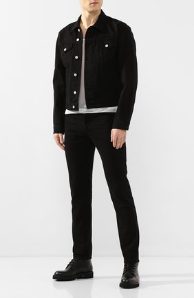 Мужская джинсовая куртка DRIES VAN NOTEN черного цвета, арт. 201-20544-9395 | Фото 2
