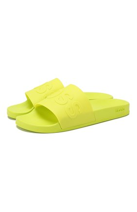 Мужские шлепанцы BOSS желтого цвета, арт. 50425152 | Фото 1