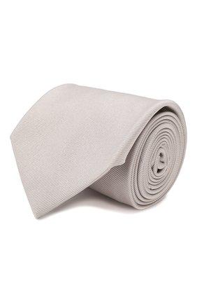 Мужской шелковый галстук BRIONI серого цвета, арт. 062H/PZ418 | Фото 1
