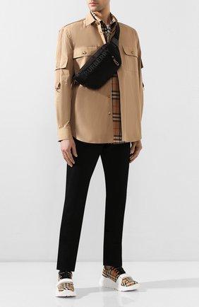 Мужская текстильная поясная сумка BURBERRY черного цвета, арт. 8025668 | Фото 2