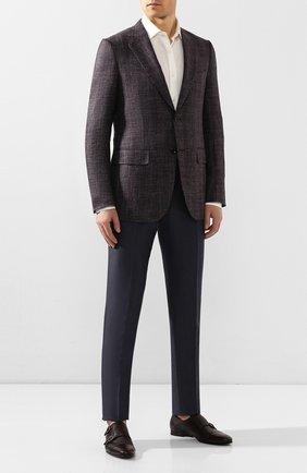 Мужские кожаные монки BARRETT бордового цвета, арт. 141U099.27/CERV0 ASP0RTABILE   Фото 2