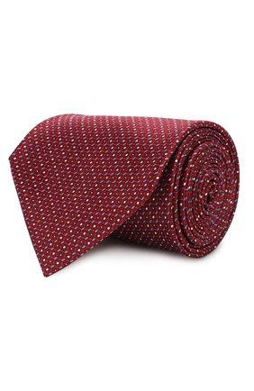 Мужской шелковый галстук BRIONI красного цвета, арт. 062I00/P941P | Фото 1