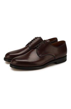Мужские кожаные дерби W.GIBBS темно-коричневого цвета, арт. 0999002/0040   Фото 1
