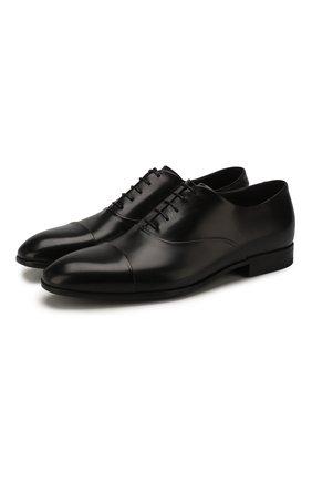 Мужские кожаные оксфорды W.GIBBS черного цвета, арт. 2339007/1640   Фото 1
