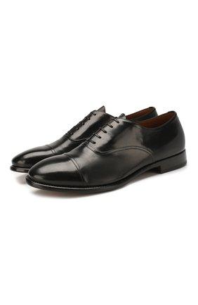 Мужские кожаные оксфорды SILVANO SASSETTI черного цвета, арт. S19971X413BDIVINER. | Фото 1