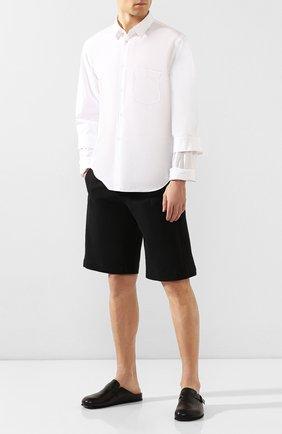 Мужские кожаные сабо OFFICINE CREATIVE черного цвета, арт. AG0RA`/004/T0SCAN0 | Фото 2