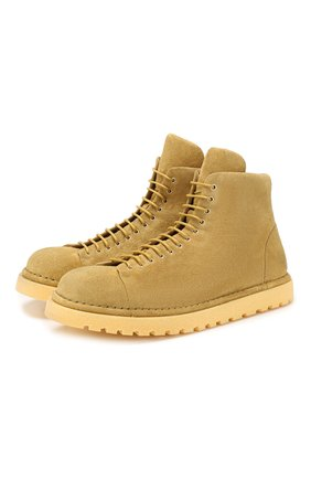 Мужские замшевые ботинки MARSELL желтого цвета, арт. MMG351P/PELLE R0VESCI0 | Фото 1
