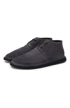 Мужские замшевые ботинки MARSELL темно-синего цвета, арт. MM3100/PELLE R0VESCI0 | Фото 1
