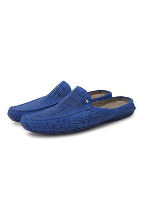 Мужские замшевые сабо ALDO BRUE синего цвета, арт. AB0088G-NS | Фото 1