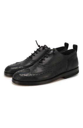 Мужские кожаные оксфорды BRUNO BORDESE черного цвета, арт. BBUCU04I | Фото 1