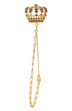 Мужская булавка для галстука DOLCE & GABBANA золотого цвета, арт. WPM1C3/W1111 | Фото 1