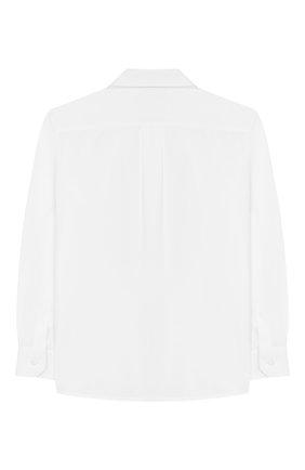 Детская хлопковая рубашка DOLCE & GABBANA белого цвета, арт. L43S14/G7VN0/2-6 | Фото 2
