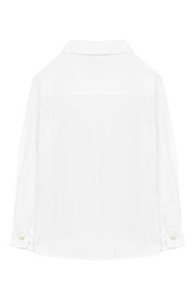 Детский хлопковая рубашка GUCCI белого цвета, арт. 547088/XWAAQ | Фото 2