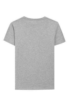 Детская хлопковая футболка GUCCI серого цвета, арт. 561651/XJBCG | Фото 2