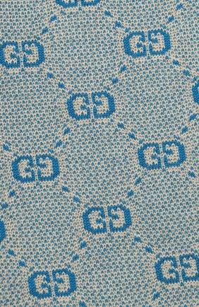 Детский шарф из шерсти и хлопка GUCCI голубого цвета, арт. 574722/4K208 | Фото 2