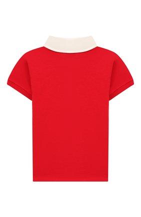 Детский хлопковое поло GUCCI красного цвета, арт. 586969/XJAAM | Фото 2