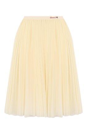Детская юбка GUCCI белого цвета, арт. 595376/ZADK0 | Фото 1