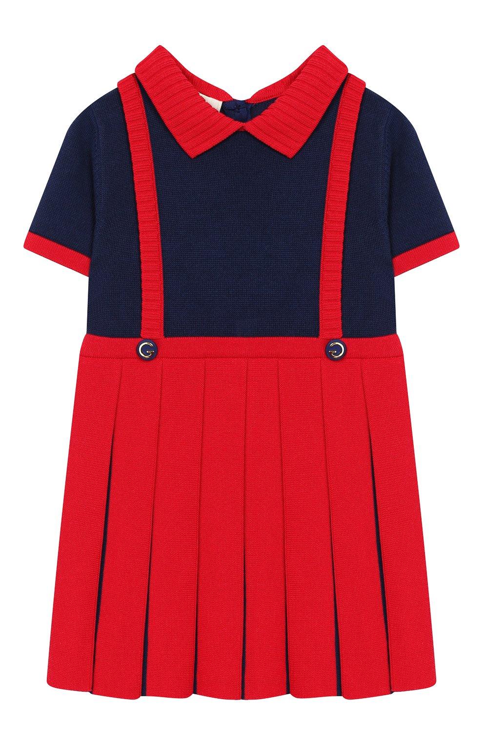 Женская платье GUCCI красного цвета, арт. 596294/XKA6A   Фото 1