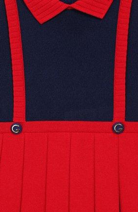 Женская платье GUCCI красного цвета, арт. 596294/XKA6A   Фото 3