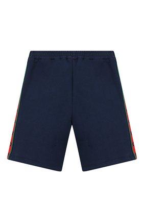 Детские хлопковые шорты GUCCI синего цвета, арт. 600053/XJB4P | Фото 2