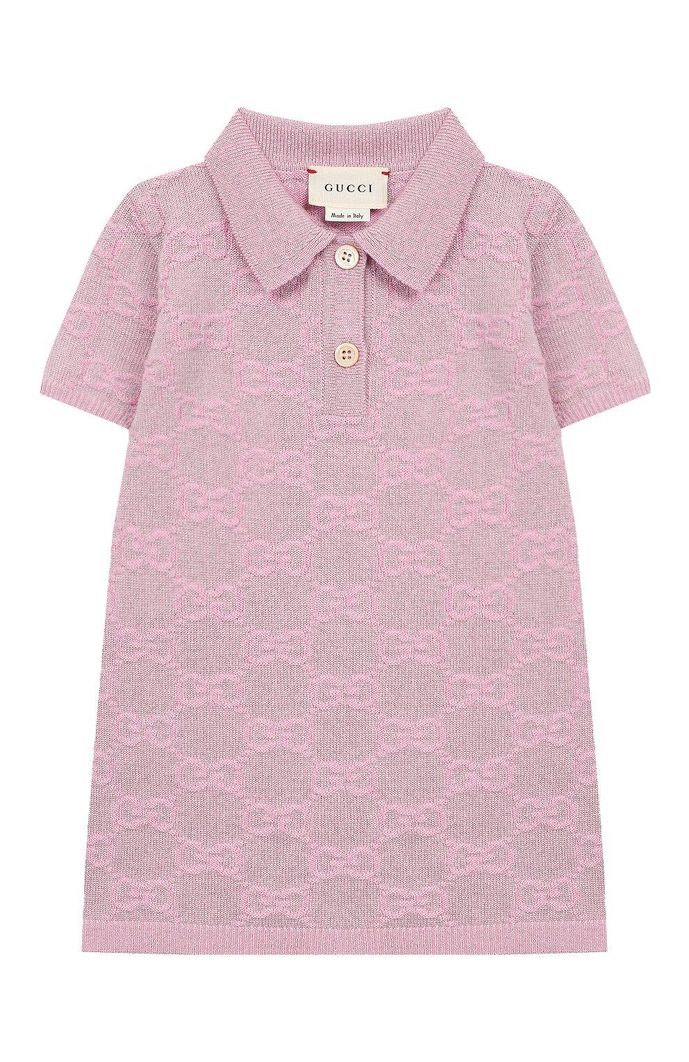 Женский шерстяное платье GUCCI розового цвета, арт. 603484/XKA6R | Фото 1