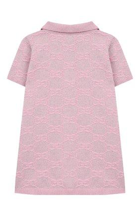 Женский шерстяное платье GUCCI розового цвета, арт. 603484/XKA6R | Фото 2