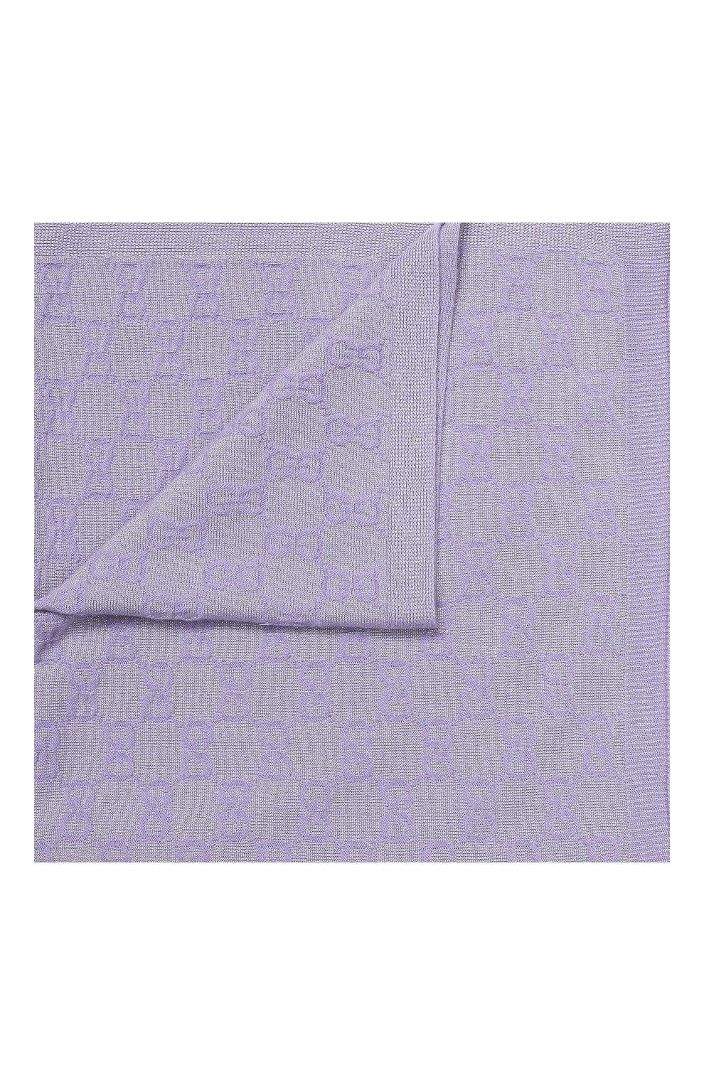 Детского шерстяное одеяло GUCCI фиолетового цвета, арт. 603808/3K601 | Фото 1