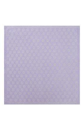 Детского шерстяное одеяло GUCCI фиолетового цвета, арт. 603808/3K601 | Фото 3